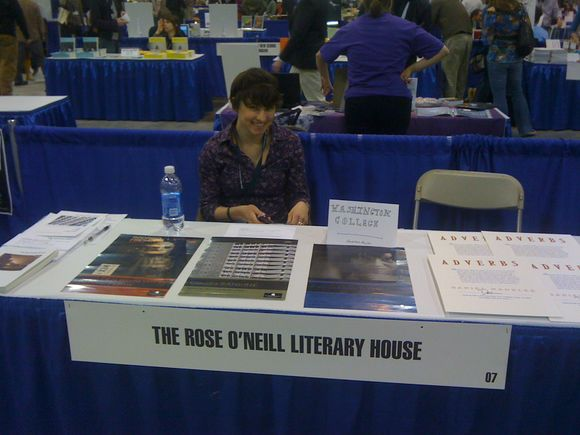 Our AWP bookfair table